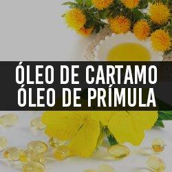 Óleo de cártamo (Ômega 6 e 9) e Óleo de Prímula