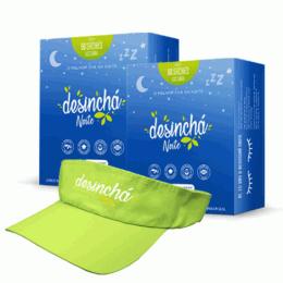 Combo Desinchá Noite (60 sachês) 2 unidades + Brinde Viseira Desinchá
